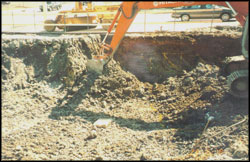 Excavation of contaminated soils from gas station release, Knoxville, TN